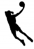 Silhouette, Basketball player, Man - Please click to download the original image file.