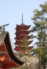 Japanese temple, Miyajima, Japanese island - Please click to download the original image file.