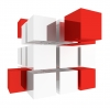 Cube, 3D, Red - Please click to download the original image file.