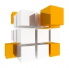 Cube, 3D, Yellow - Please click to download the original image file.