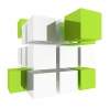 Cube, 3D, Green - Please click to download the original image file.