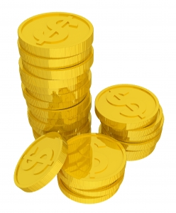 Golden Coins, Currency, USA Dollar - High quality royalty free images resources for commercial and personal uses. No payment, No sign up.