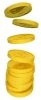 Golden Coins, Currency, USA Dollar - Please click to download the original image file.